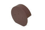 Ridge Cap Half Round Brown